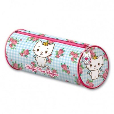 ASTUCCIO PORTAPENNE ANGEL CAT SUGAR FLOWERS