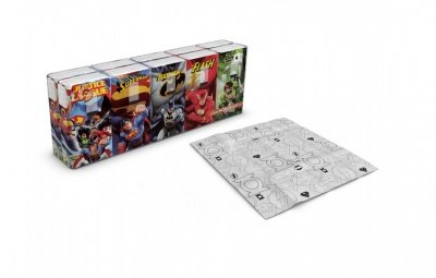 FAZZOLETTI JUSTICE LEAGUE SET DA 10