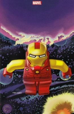 IRON MAN & NEW AVENGERS 7 VARIANT COVER LEGO