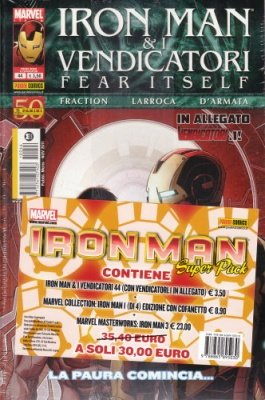 IRON MAN SUPERPACK: IRON MAN & I VENDICATORI 44, MARVEL COLLECTION 17  CON COFANETTO, IRON MAN 3 MASTERWORKS