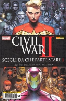 MARVEL CROSSOVER 90 - CIVIL WAR II SCEGLI DA CHE PARTE STARE 1