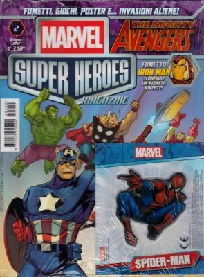 MARVEL SUPER HEROES MAGAZINE 2 + MAGNETE SPIDER-MAN