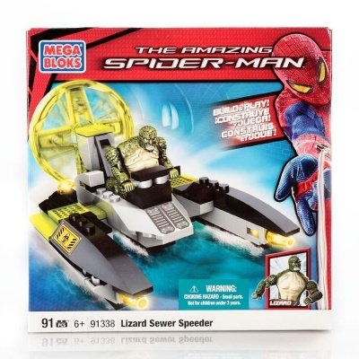 MEGA BLOKS THE AMAZING SPIDER-MAN LIZARD SEWER SPEEDER