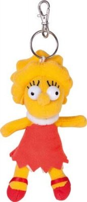 PORTACHIAVI MINI PELUCHE LISA SIMPSONS 12 CM.