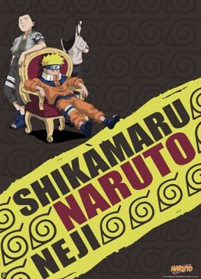 POSTER PLASTIFICATO NARUTO AND FRIENDS