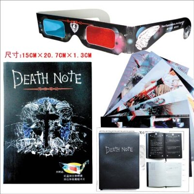 QUADERNO DI DEATH NOTE + MAXI CARD 3D E OCCHIALINI