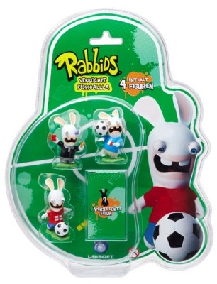 RAVING RABBIDS FOOTBALLERS MINI FIGURE PACK  A 4 PZ