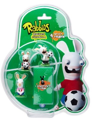 RAVING RABBIDS FOOTBALLERS MINI FIGURE PACK  B 4 PZ