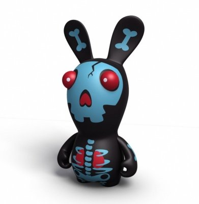 RAVING RABBIDS SKELETON BLACK