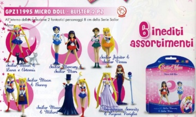 SAILOR MOON MICRO DOLL SAILOR JUPITER & SAILOR VENUS IN BLISTER