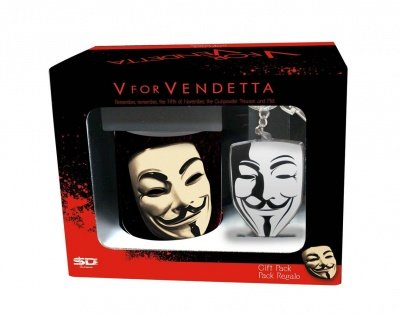 SET REGALO TAZZA + PORTACHIAVI V FOR VENDETTA 01