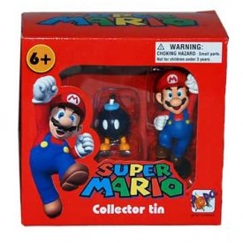 SUPER MARIO COLLECTOR TIN - MARIO E BOB-OMB