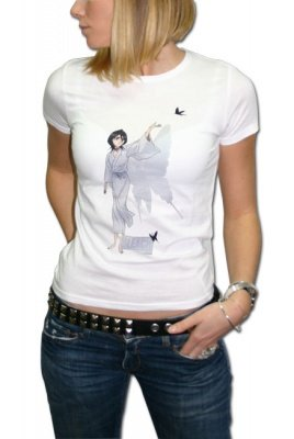 T-SHIRT BLEACH - TG. M - RUKIA'S BUTTERFLY