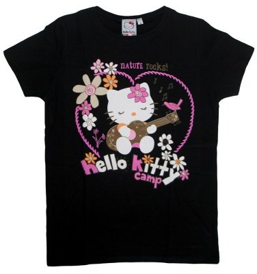 T-SHIRT HELLO KITTY NATURE ROCKS - TG. L