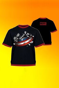 T-SHIRT MARVEL - CAPITAN AMERICA - TG. XL