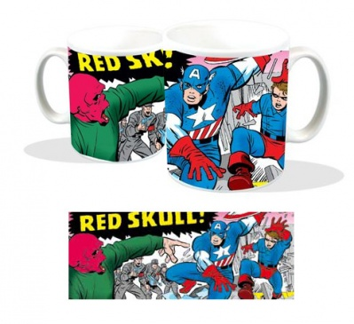 TAZZA CAPITAN AMERICA & BUCKY VS. THE RED SKULL