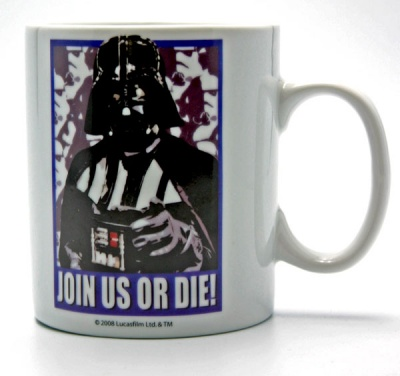 TAZZA DARK VADER STAR WARS JOIN US OR DIE!