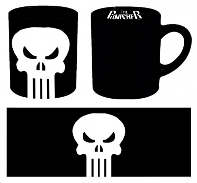 TAZZA MARVEL PUNISHER LOGO