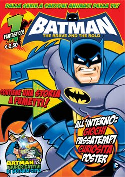 BATMAN THE BRAVE AND THE BOLD MAGAZINE 1 + 3D STICKERS