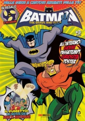 BATMAN THE BRAVE AND THE BOLD MAGAZINE 3 + BATARANG