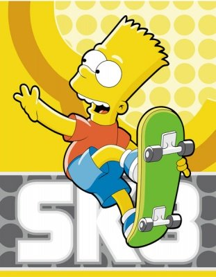 COPERTA PLAID BART SIMPSONS SK8