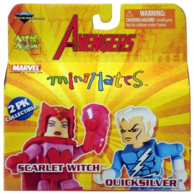 MARVEL MINIMATES AVENGERS SCARLET WITCH E QUICKSILVER BOX SET