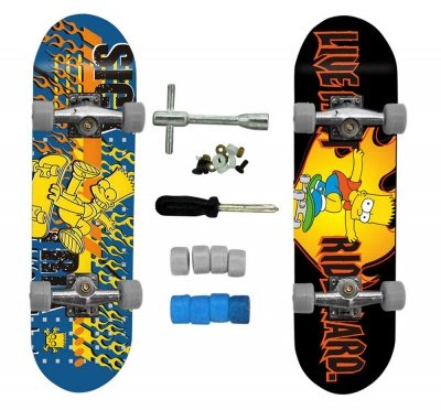 MINI SKATEBOARD BART SIMPSONS SET 2 PZ.