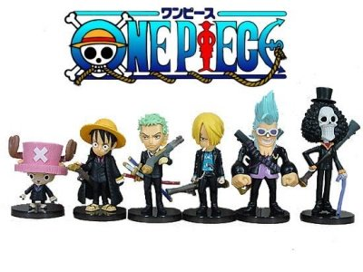 ONE PIECE STRONG WORLD TRADING FIGURE SET 6 PZ.