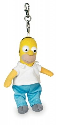 PORTACHIAVI MINI PELUCHE HOMER SIMPSONS 15 CM.
