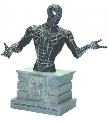 SPIDER-MAN 3 BLACK BUSTO IN RESINA
