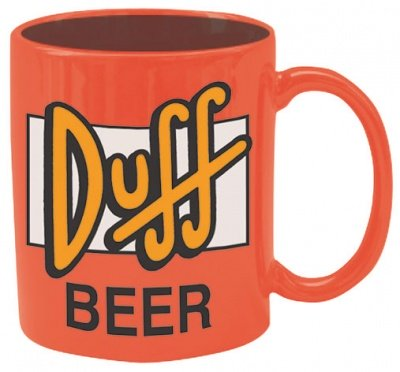 TAZZA DUFF BEER SIMPSONS