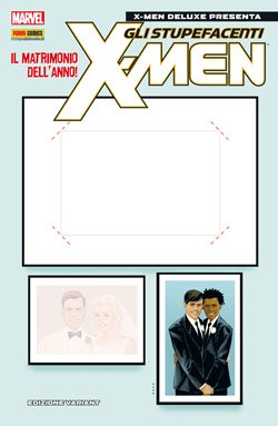 X-MEN DELUXE PRESENTA 215 VARIANT COVER + STICKER COVER PERSONALIZZABILE